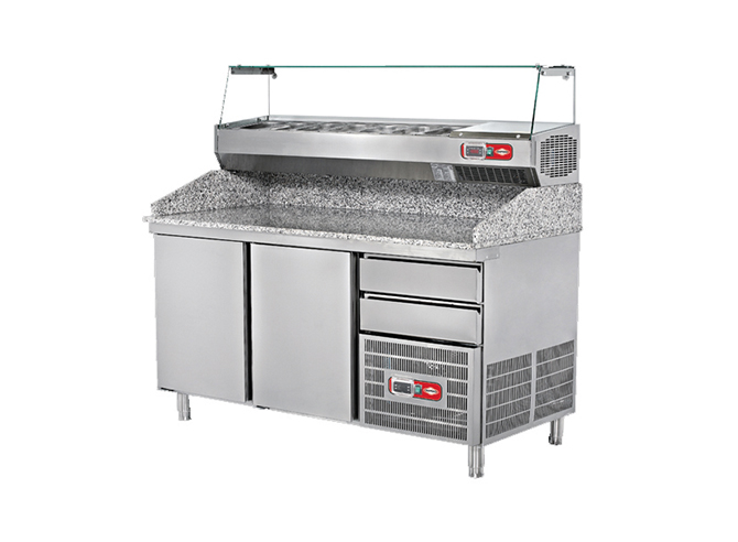 Refrigerator With Dough Prep Table Top Granite